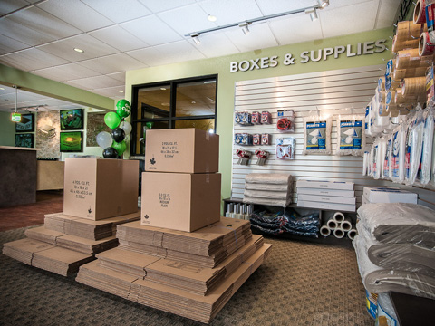 We offer a full line of boxes & moving supplies...